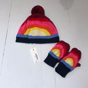 Gymboree Pom Pom Hat and Glove Bundle size 2T/3T
